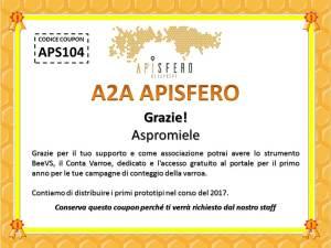 APISFERO Coupon ASP104 - Associazione Aspromiele